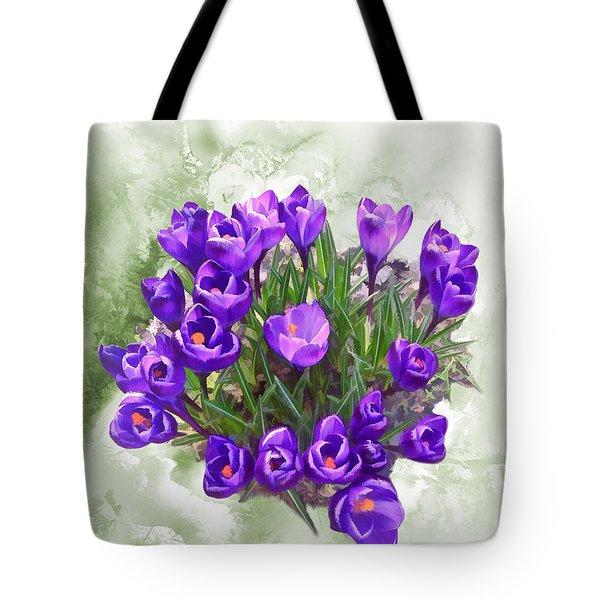 Spring Arrived - Purple Giant Crocus Tote Bag