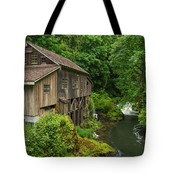 Spring At Cedar Creek Grist Mill Tote Bag