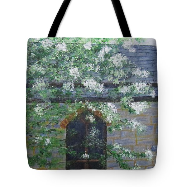 Spring At Grace Church Tote Bag