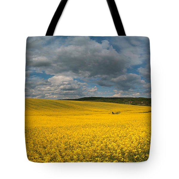 Spring At Oilseed Rape Field Tote Bag