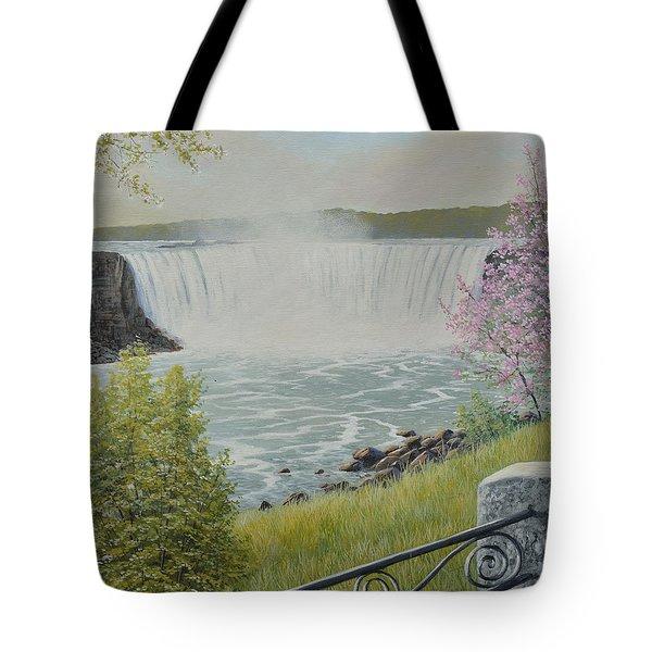 Spring At The Falls Tote Bag