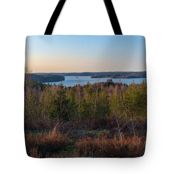 Spring At The Lake Hiidenvesi Tote Bag