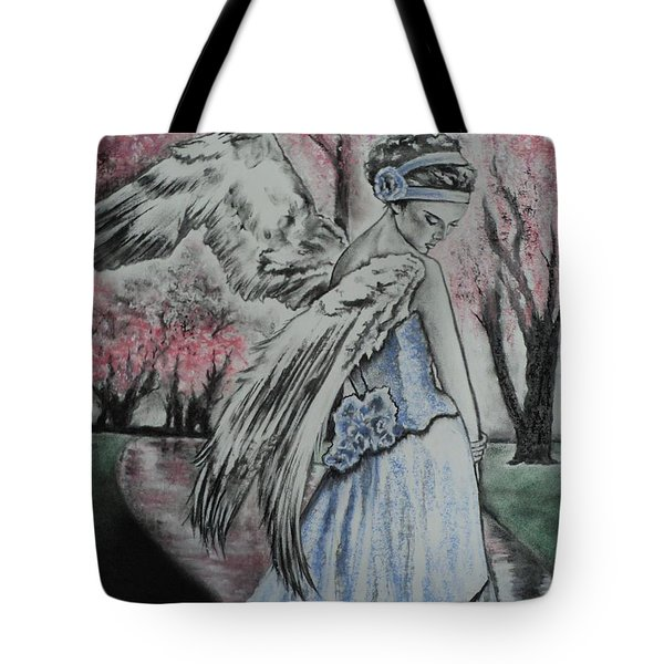 Spring Blossom Angel Tote Bag by Carla Carson