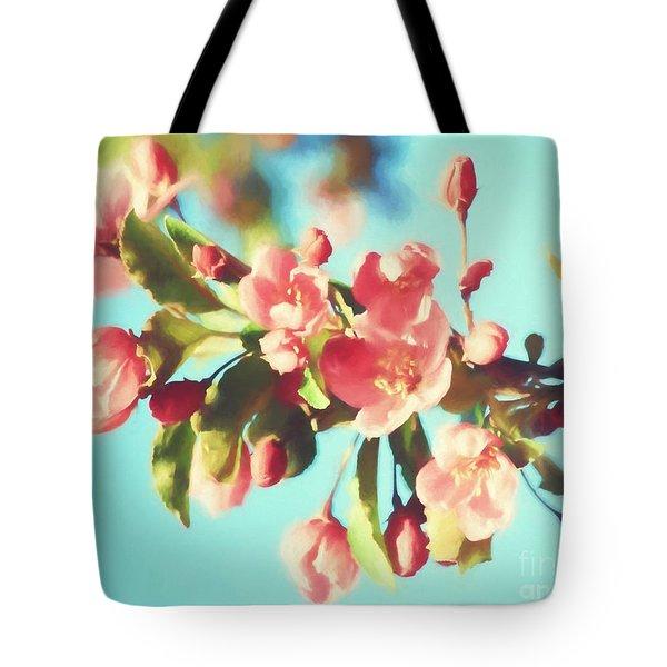 Spring Blossoms In Digital Watercolor Tote Bag