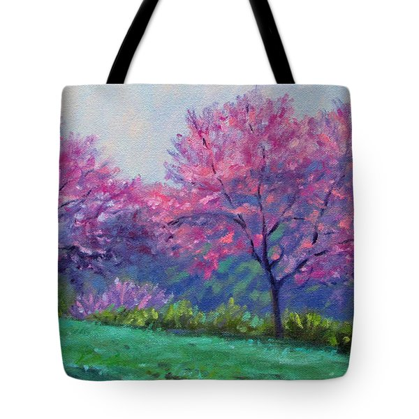 Spring Blossoms On Mill Mountain Tote Bag by Bonnie Mason