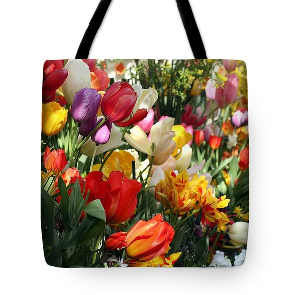 Tote Bag featuring the photograph Spring Bulb Bonanza by Mary Lou Chmura