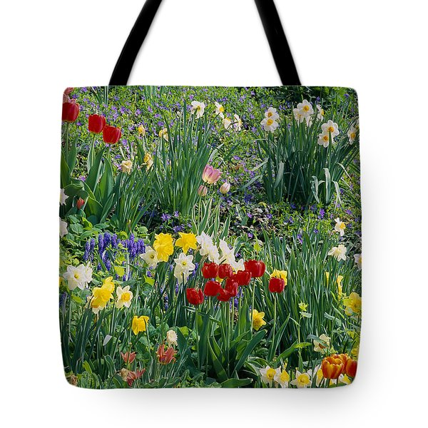 Tote Bag featuring the photograph Spring Bulb Garden by Alan L Graham