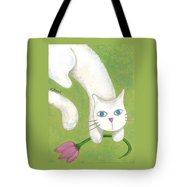 Spring Cat Tote Bag