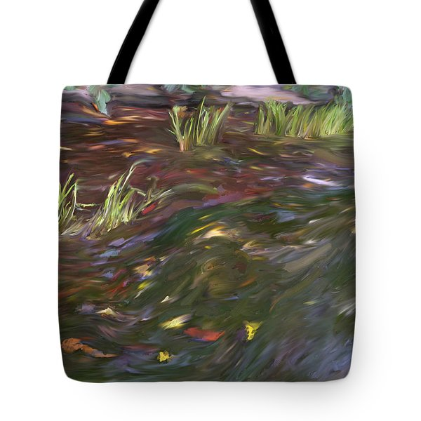 Spring Creek In Oak Canyon Park Tote Bag by Angela A Stanton