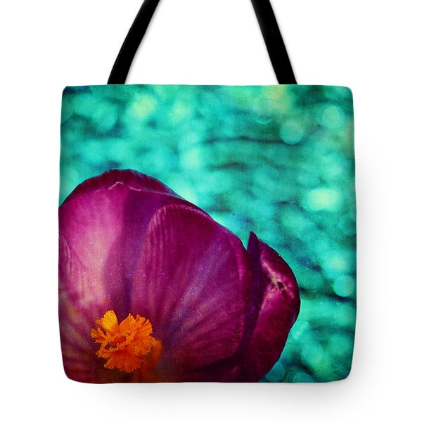 Tote Bag featuring the photograph Spring Crocus by Peggy Collins