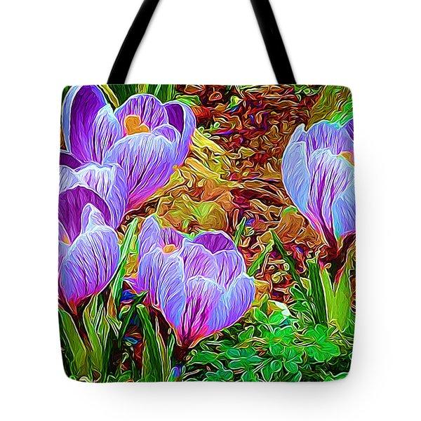 Spring Crocuses Tote Bag