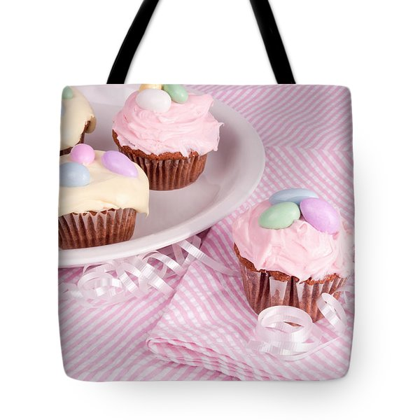 Cupcakes With A Spring Theme Tote Bag