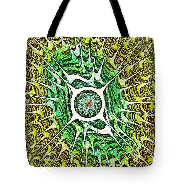 Spring Dragon Eye Tote Bag by Anastasiya Malakhova