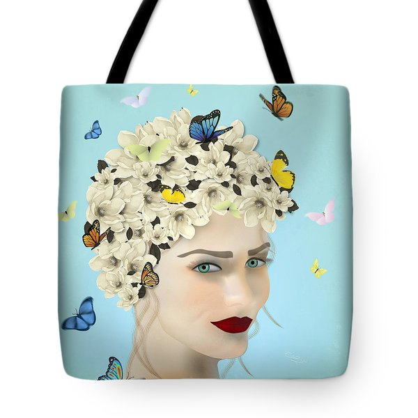 Spring Face - Limited Edition 2 Of 15 Tote Bag