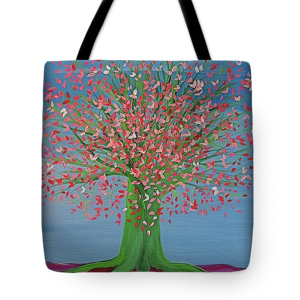 Spring Fantasy Tree By Jrr Tote Bag