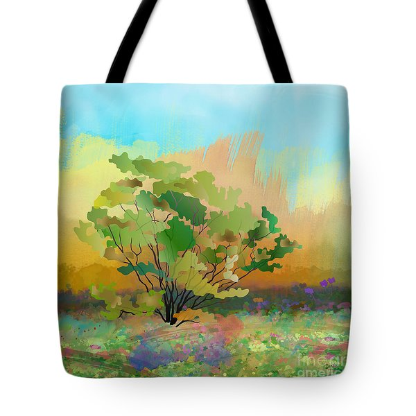 Spring Field Tote Bag by Bedros Awak