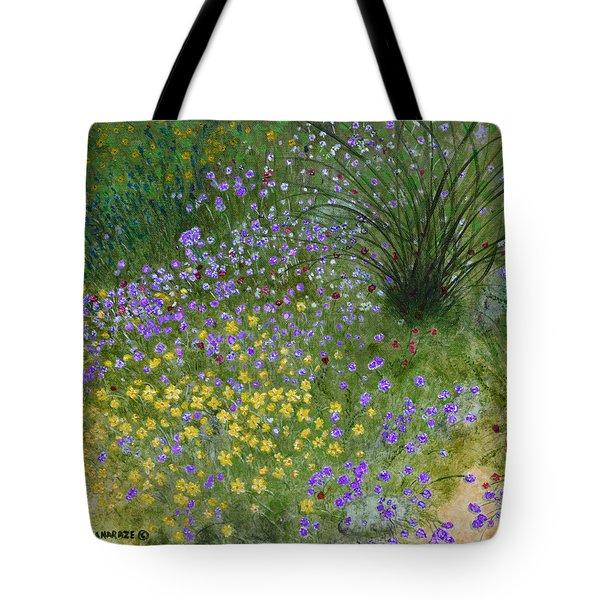 Spring Fling Tote Bag by Donna  Manaraze
