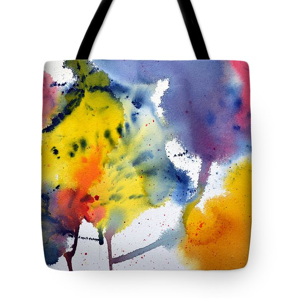 Tote Bag featuring the painting Spring Fling by Joan Hartenstein