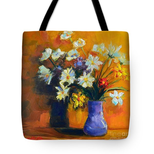 Spring Flowers In A Vase Tote Bag by Patricia Awapara