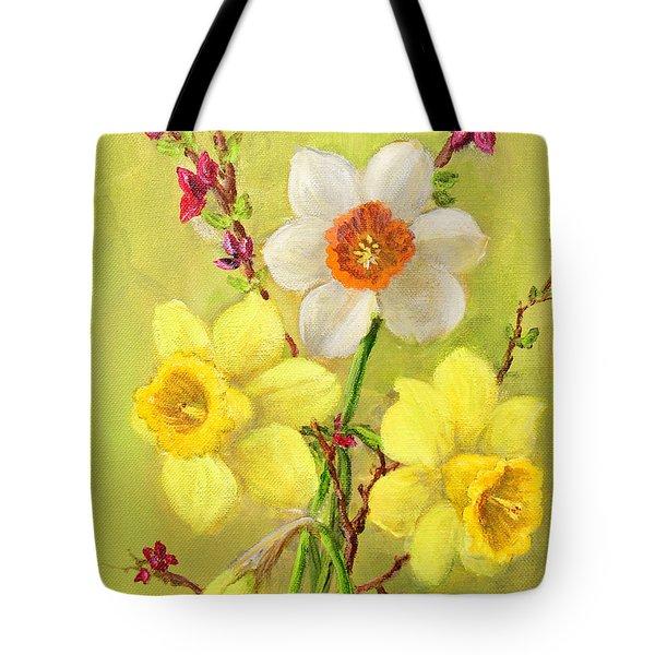 Spring Flowers Tote Bag by Randol Burns