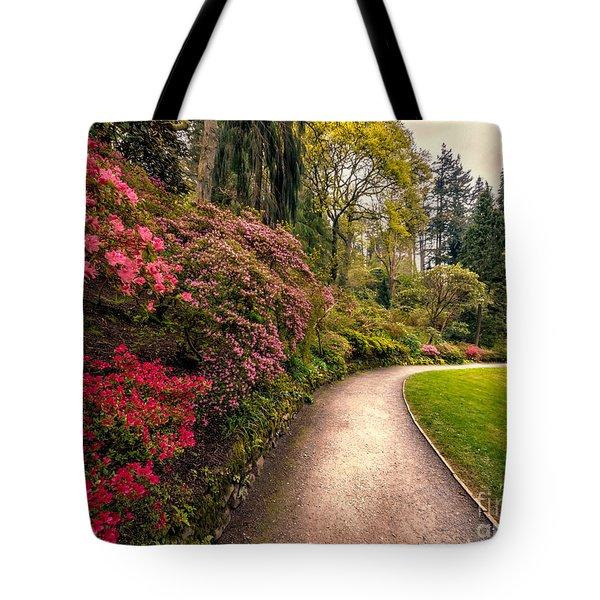 Spring Footpath Tote Bag by Adrian Evans
