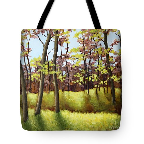 Spring Forest Tote Bag by Inese Poga
