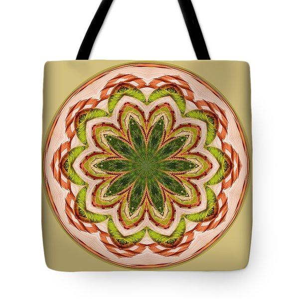 Spring Grasses Mandala Tote Bag
