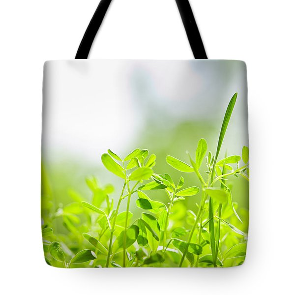 Spring Green Sprouts Tote Bag
