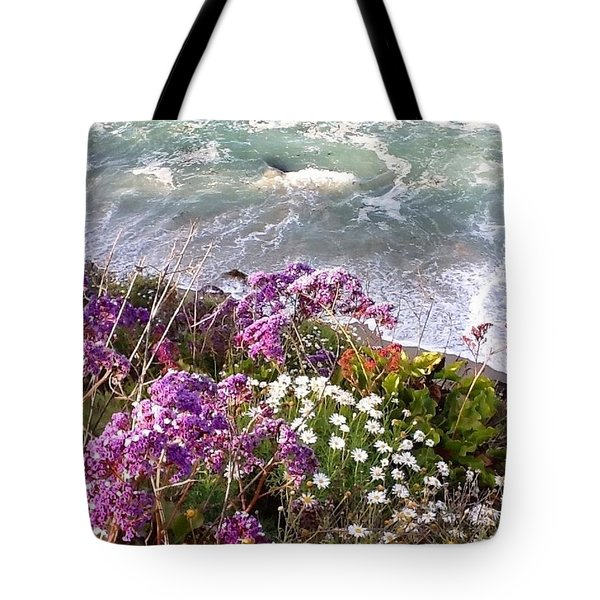 Tote Bag featuring the photograph Spring Greets Waves by Susan Garren