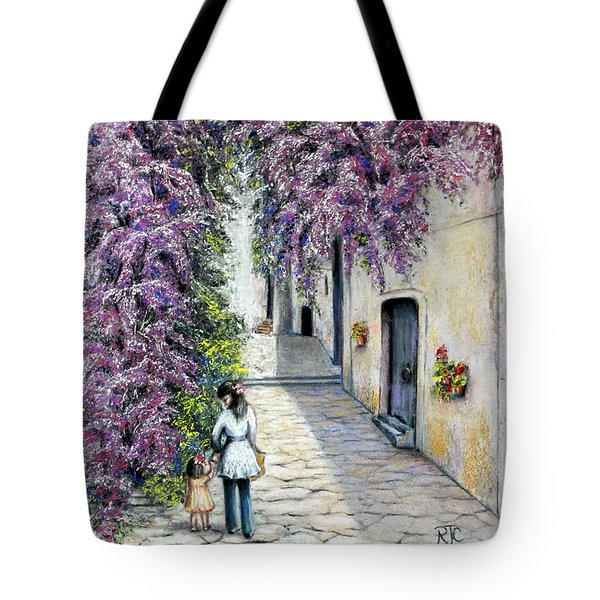 Tote Bag featuring the painting Spring In Andalucia by Rosemary Colyer