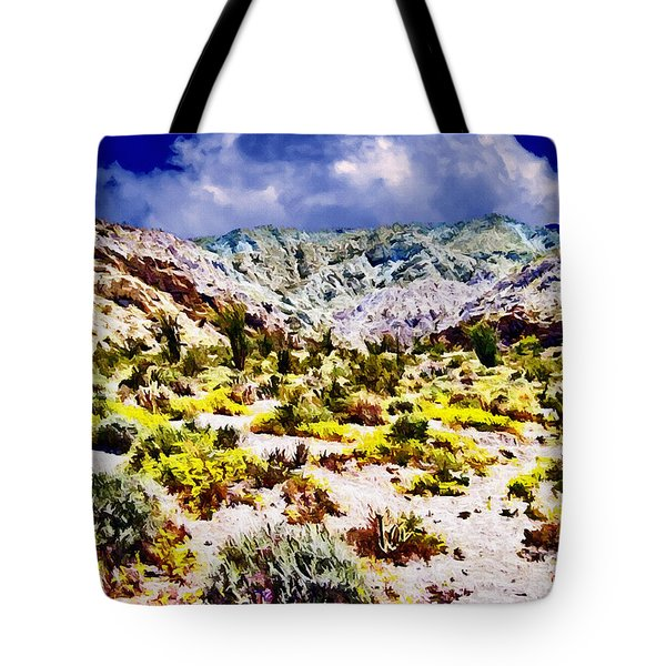 Spring In Anza Borrega  Tote Bag by Bob and Nadine Johnston