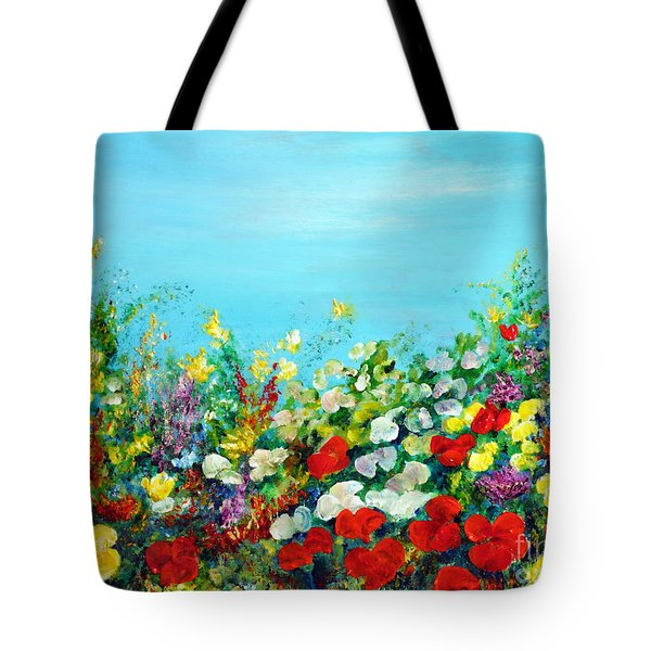 Spring In The Garden Tote Bag by Teresa Wegrzyn