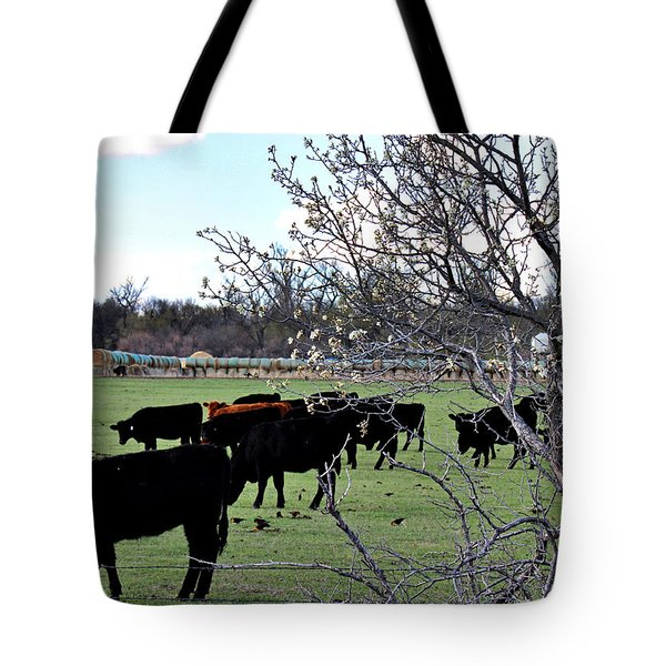Spring In The Hay Meadow Tote Bag