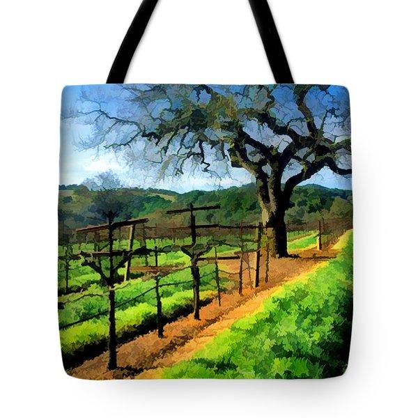 Spring In The Vineyard Tote Bag by Elaine Plesser