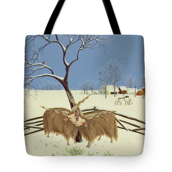 Spring In Winter Tote Bag by Magdolna Ban