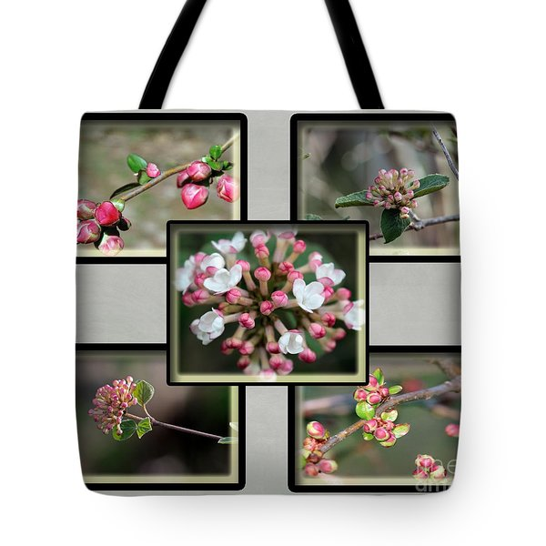 Spring Is Here - Gray Tote Bag