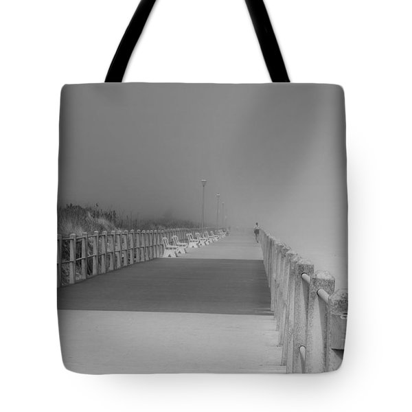 Spring Lake Boardwalk - Jersey Shore Tote Bag