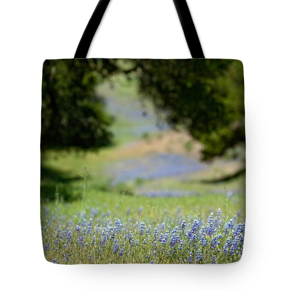 Spring Lupines Tote Bag by Art Block Collections
