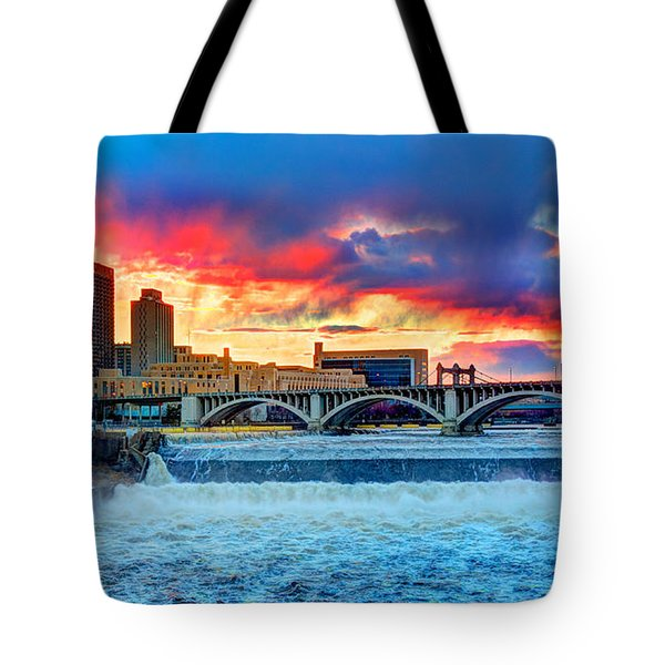 Spring Melt On The Mississippi Tote Bag by Amanda Stadther