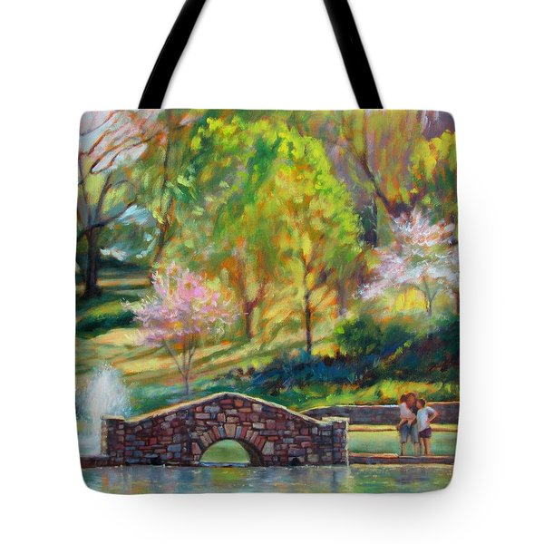 Spring Morning Tote Bag by Bonnie Mason