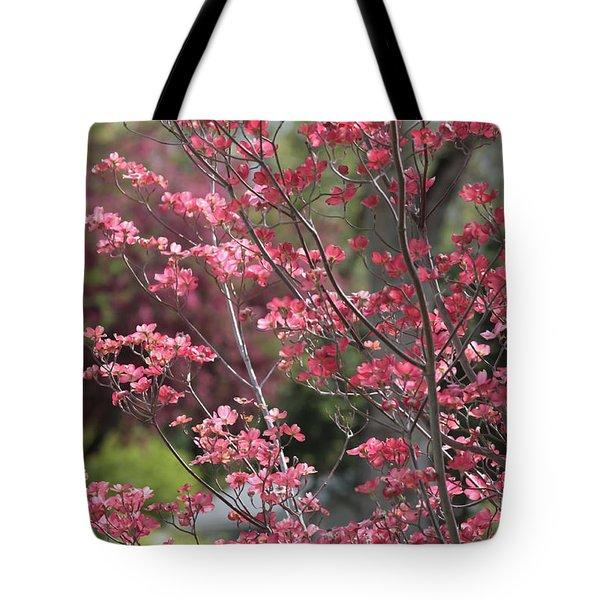 Spring Neighborhood Tote Bag by Carol Groenen