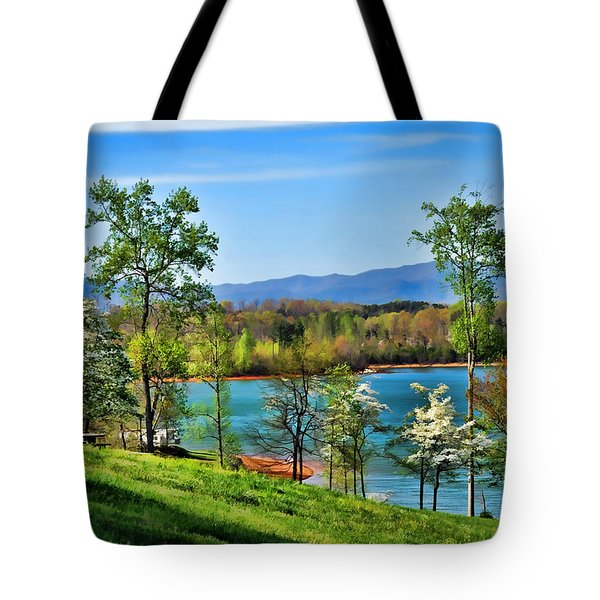 Spring On The Lake Tote Bag