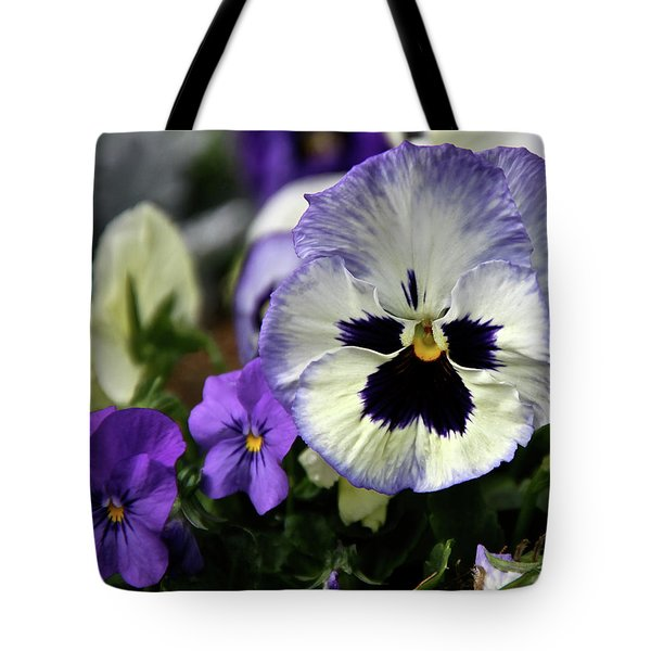Spring Pansy Flower Tote Bag by Ed  Riche