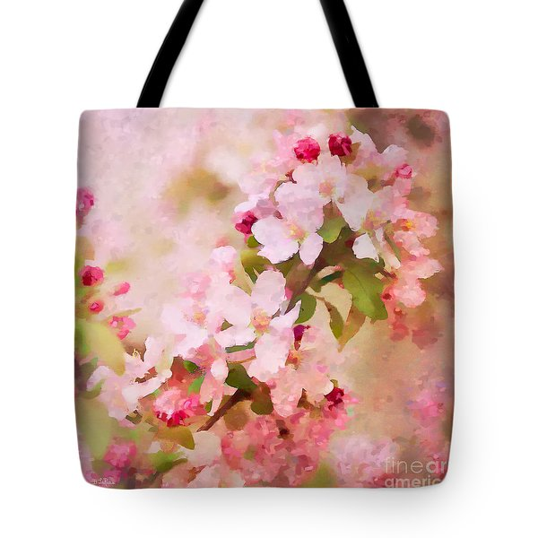 Spring Pink Tote Bag by Betty LaRue