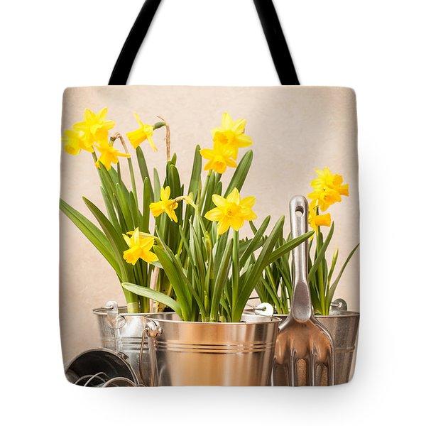 Spring Planting Tote Bag by Amanda Elwell
