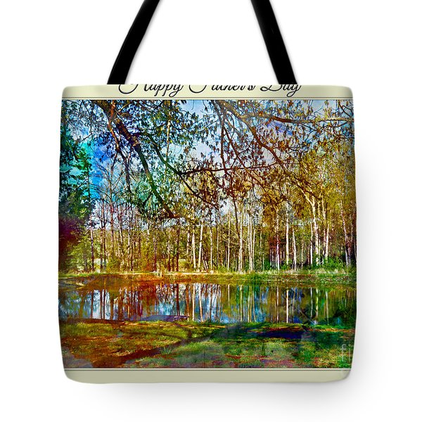 Spring Pond Photoart Father's Day Tote Bag by Debbie Portwood