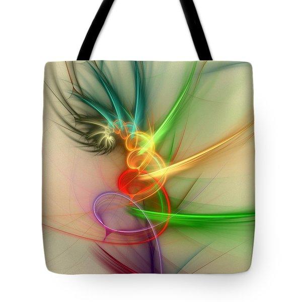 Spring Power Tote Bag by Anastasiya Malakhova