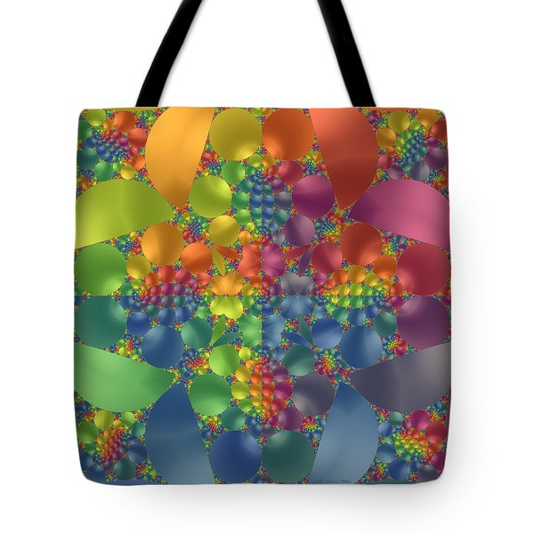 Tote Bag featuring the digital art Spring Promises Fractal by Judi Suni Hall