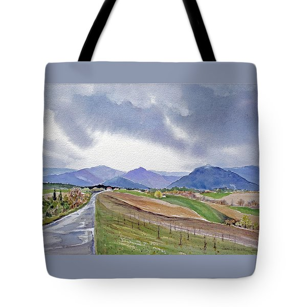 Spring Rain In Tuscany Tote Bag by Joan Hartenstein