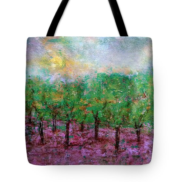 Tote Bag featuring the painting Spring Rain by Jim Whalen